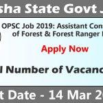 OPSC Recruitment 2019