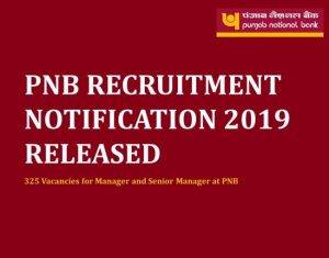 Punjab National Bank Recruitment 2019