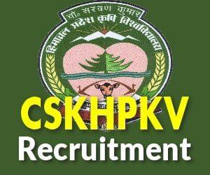 CSKHPKV Recruitment 2019