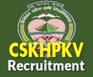 CSKHPKV Recruitment 2019
