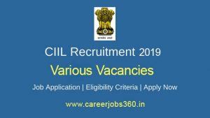 CIIL Mysore Recruitment 2019
