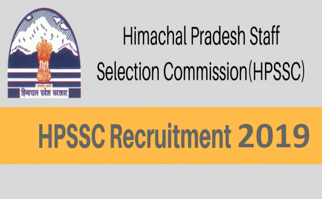 Himachal Pradesh Staff Selection Commission Recruitment 2019