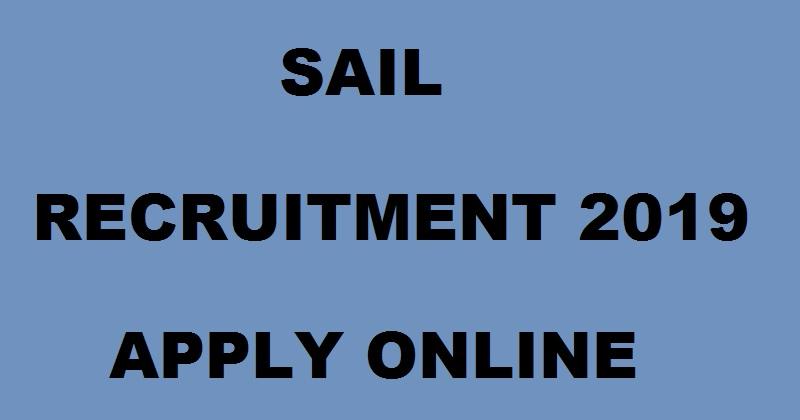 Steel Authority Of India Recruitment 2019