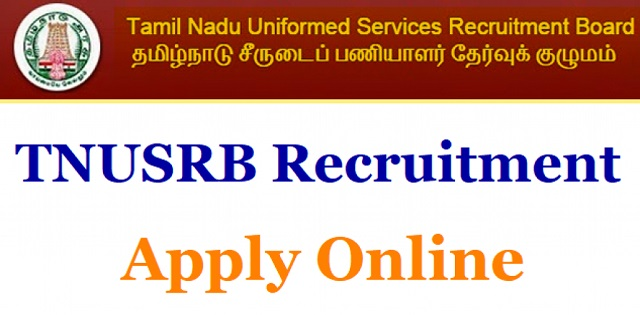Tamil Nadu Police Taluk SI Recruitment 2019