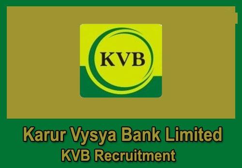 Karur Vysya Bank Recruitment 2019