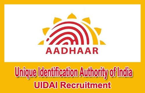 Unique Identification Authority of India Recruitment 2019