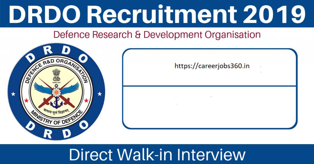 DRDO NSTL Junior Research Fellow Recruitment 2019