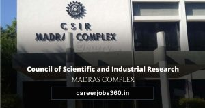 CSIR Madras Complex Junior Hindi Translator Recruitment 2019